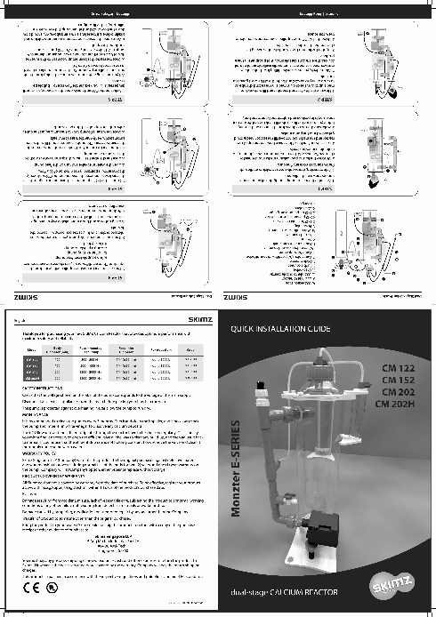Quick Installation Guide for Skimz Monzter E-series Calcium Reactor