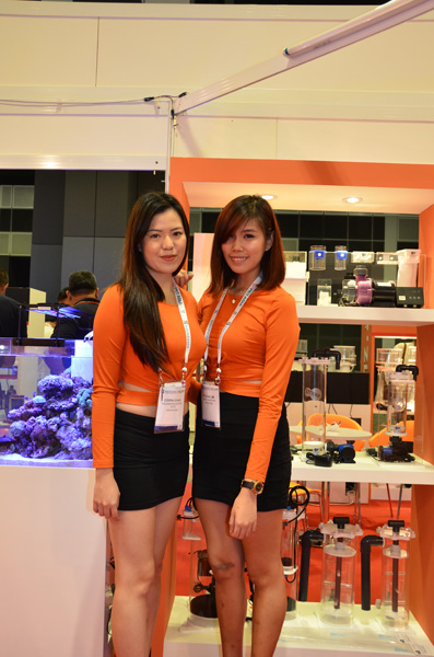 Skimz Protein Skimmer at Aquarama 2015. Aquarium Systems, Dupla, Sanrise.