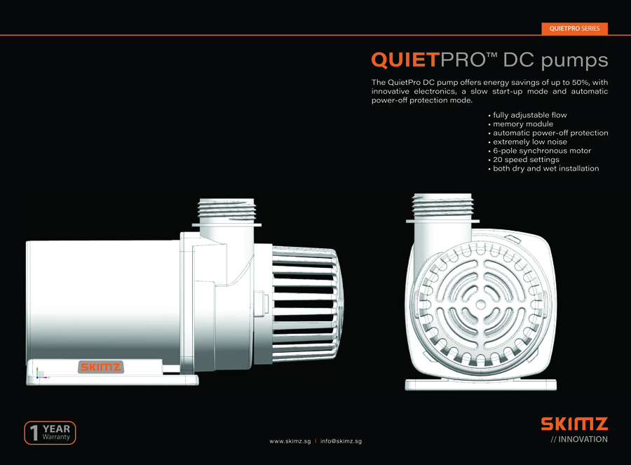 skimz QuietPro DC aquarium pump